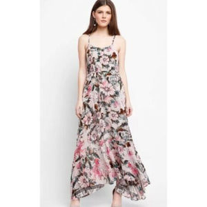Plenty Tracy Reese Floral Maxi Dress XS Anthro